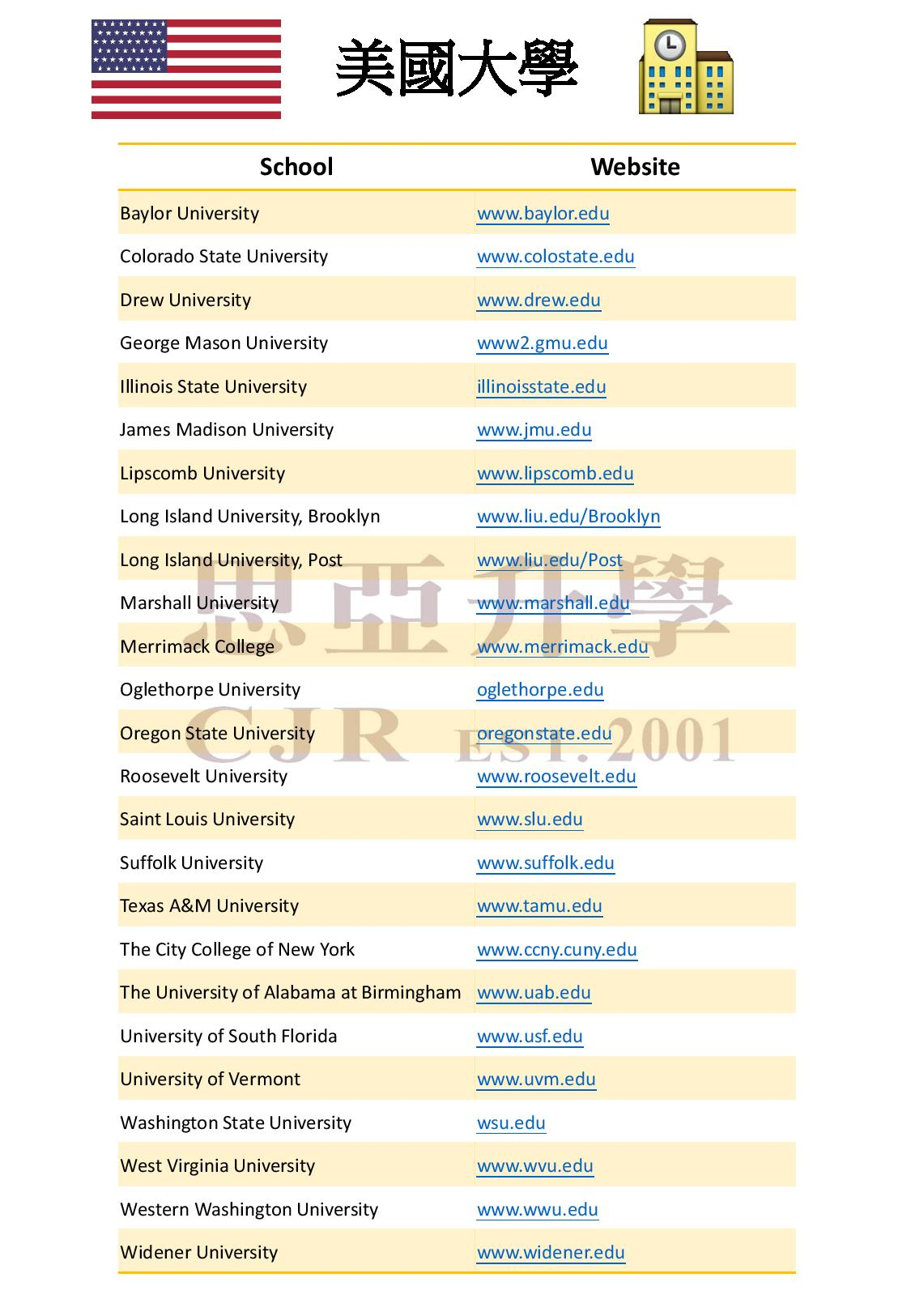 US School List-page-001